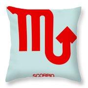 Scorpio Zodiac Sign Red Throw Pillow