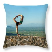 Scorpion Girl At Babad Do'ag Throw Pillow