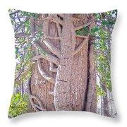 Scorpion Tree Throw Pillow
