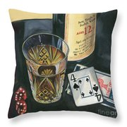 Scotch And Cigars 2 Throw Pillow by Debbie DeWitt