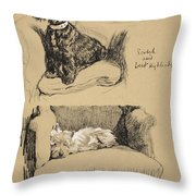 Scotch And West Highlander, 1930 Throw Pillow