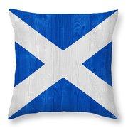 Scotland Flag Throw Pillow