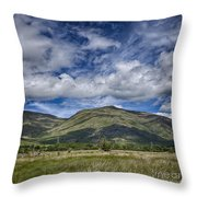 Scotland Loch Awe Mountain Landscape Throw Pillow