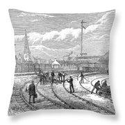 Scotland Train Crash Throw Pillow