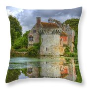 Scotney Castle Reflections Throw Pillow