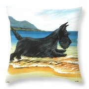 Scottie At Play Throw Pillow