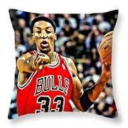 Scottie Pippen Throw Pillow