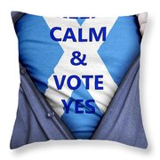 Scottish Businessman Votes Yes Throw Pillow