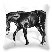Scottish Gold - Registered Thoroughbred Throw Pillow