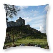 Scottish Castle Ruins Throw Pillow
