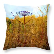 Scottish Thistle On The Firth Throw Pillow