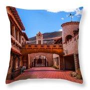 Scotty's Castle Courtyard Throw Pillow