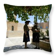 Scouts Beneath Grapes Throw Pillow