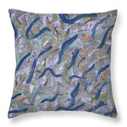 Scramble Throw Pillow by Melissa Dawn
