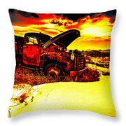 Junk In The Afternoon Sun Throw Pillow