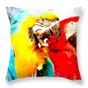 Scratch Layers Throw Pillow