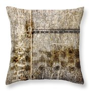 Scratched Metal And Old Books Number 1 Throw Pillow