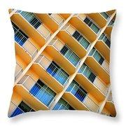 Scratchy Hotel Facade Throw Pillow