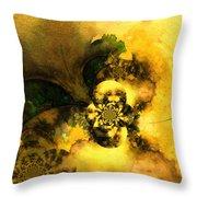 Scream Of Nature Throw Pillow by Miki De Goodaboom