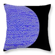Screen Orb-05 Throw Pillow