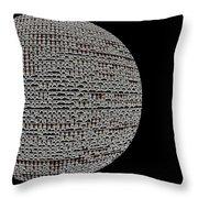 Screen Orb-06 Throw Pillow