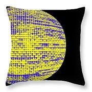 Screen Orb-10 Throw Pillow