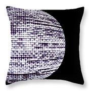 Screen Orb-14 Throw Pillow