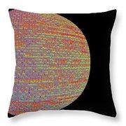 Screen Orb-28 Throw Pillow