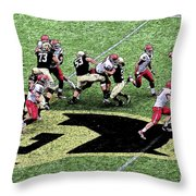 Screen Pass Throw Pillow