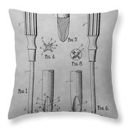Screwdriver Patent Drawing Throw Pillow