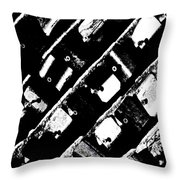 Screwed Metal Tab Abstract Throw Pillow