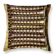 Screws In A Line 1 Throw Pillow