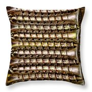 Screws Lined Up Iphone Case Throw Pillow