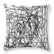 Scribble For M.l.b. Here I Come Throw Pillow