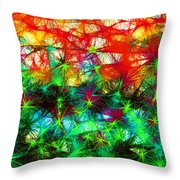 Scribble Thicket Throw Pillow