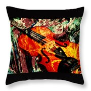 Scribbled Fiddle Throw Pillow