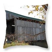 Scribner Bridge Johnson Vermont Throw Pillow