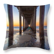Scripps Pier #1 Throw Pillow