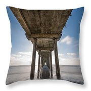 Scripps Pier Long Exposure Throw Pillow