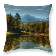 Scripture And Picture Psalm 23 Throw Pillow