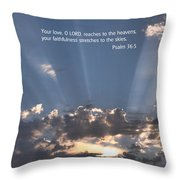 Scripture And Picture Psalm 36 5 Throw Pillow