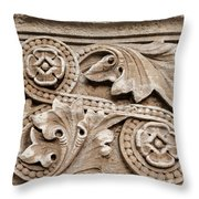 Scroll Of Stone Throw Pillow