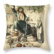 Scrooges Third Visitor Throw Pillow by Philip Ralley