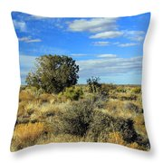 Scrubland Throw Pillow
