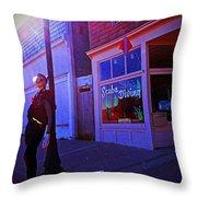 Scuba Shop Throw Pillow