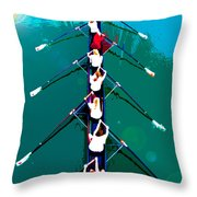 Rowing In The Sun Throw Pillow