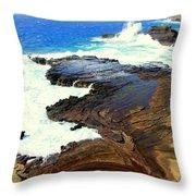 Sculpted Coastline Throw Pillow
