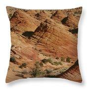 Sculpted Colorado Sandstone Paria Canyon Throw Pillow