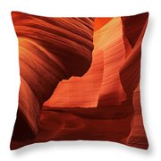 Sculpted Sandstone Upper Antelope Slot Canyon Arizona Throw Pillow