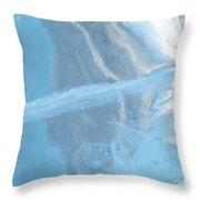 Sculpting A Blue Streak Throw Pillow